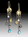 Gold, Silver, & Stone Earrings by Suzanne Q Evon