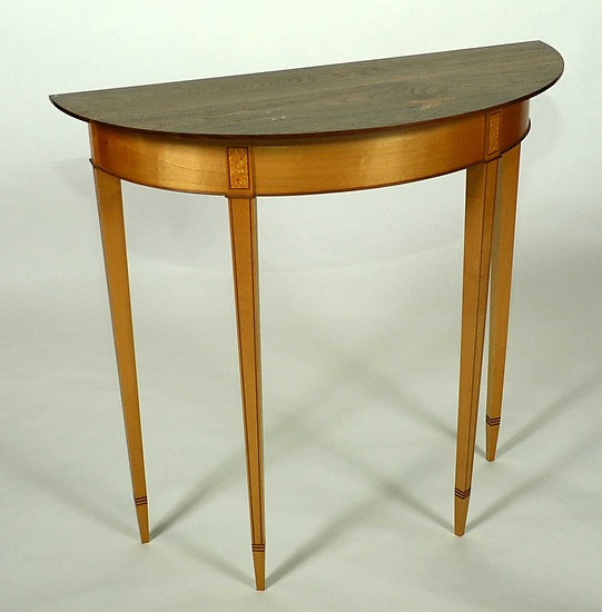 Demilune Table - Wood Console Table - by Karel Aelterman