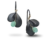 Silver & Stone Earrings by Jamie Cassavoy