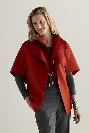 Peel in Red - Wool Jacket - by Teresa Maria Widuch