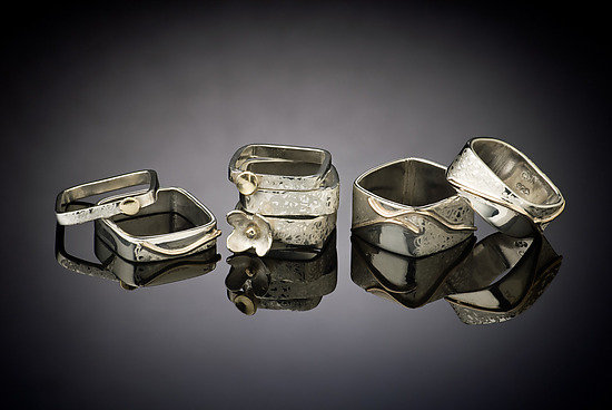 Stacking Ring Series - Gold & Silver Rings - by Chi Cheng Lee