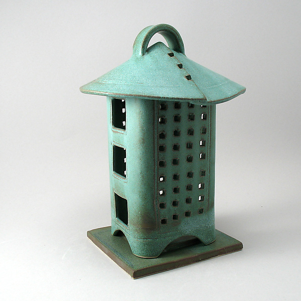 Garden Lantern - Ceramic Candleholder - by Cheryl Wolff