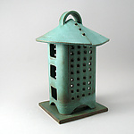 Ceramic Candleholder by Cheryl Wolff