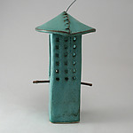 Ceramic Bird Feeder by Cheryl Wolff