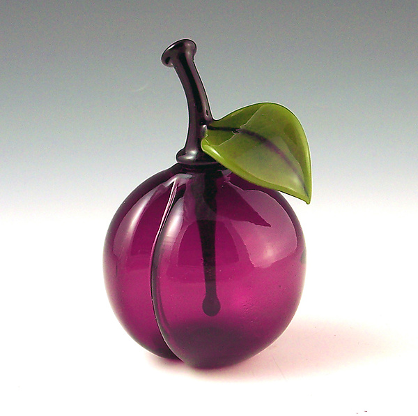 Plum perfume - Art Glass Perfume Bottle - by Garrett Keisling