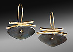 Gold & Silver Earrings by Peg Fetter