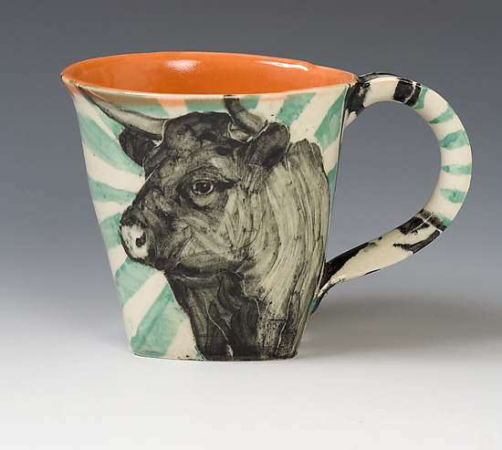 Cow Mug - Ceramic Mug - by Hannah Niswonger