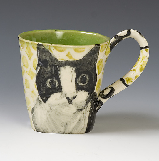 Cat Mug - Ceramic Mug - by Hannah Niswonger