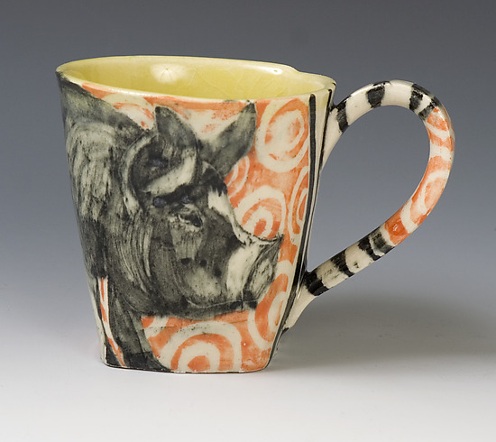 Pig Mug - Ceramic Mug - by Hannah Niswonger