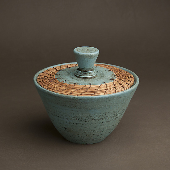 Cot In A Box Morocco Turquoise: Turquoise Box By Hannie Goldgewicht (Ceramic Vessel