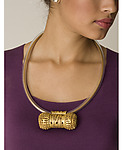 Gold & Copper Necklace by Nancy Worden