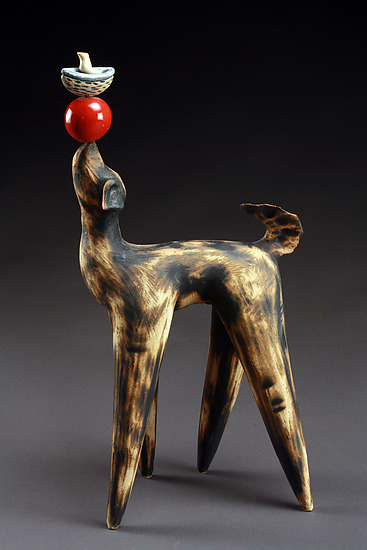 Balancing Act - Ceramic Sculpture - by Cathy Broski