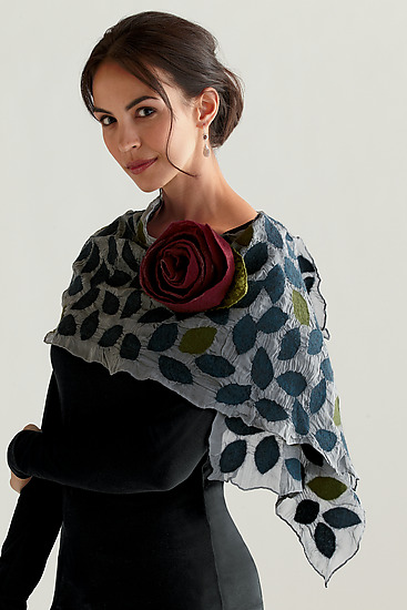 Kelly Scarf - Silk & Wool Scarf - by Elizabeth Rubidge