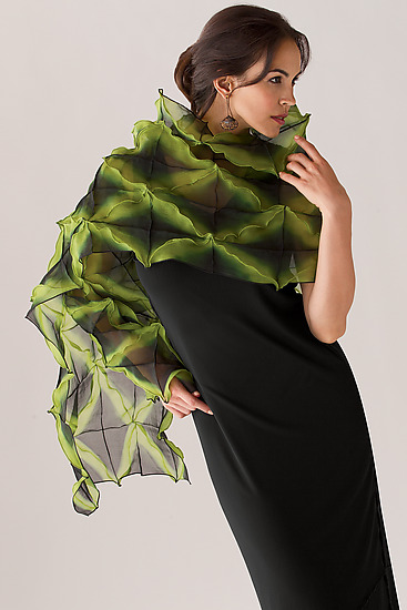 X Wrap - Silk Shibori Wrap - by Amy Nguyen