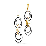 Gold, Silver, & Stone Earrings by Dana Melnick