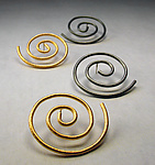 Gold & Silver Earrings by Emanuela Aureli