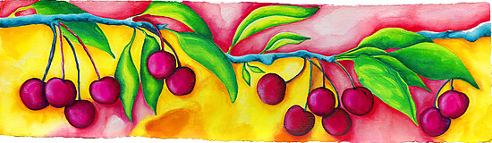 Cherries - Giclee Print - by Rachel Tribble