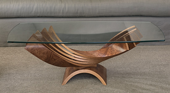 Spiral Cocktail Table - Wood Coffee Table - by Blaise Gaston