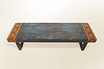 Mixed Media Bench by Lara Moore