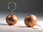 Silver or Copper Earrings by Emanuela Aureli
