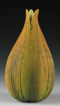Bulb Vase 1 - Ceramic Vase - by Andy Rogers