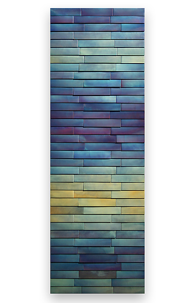 Zigzag Indigo - Metal Wall Art - by Anne Moran and Robert A. Brown
