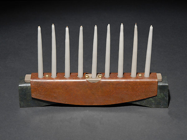 Tabard Menorah - Metal Menorah - by David M Bowman and Reed C Bowman