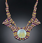 Nylon & Glass Necklace by Bernadette Mahfood