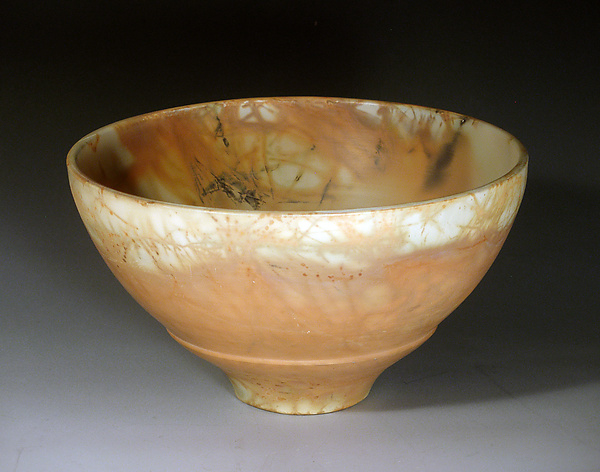 Peachy Bowl - Ceramic Bowl - by Judith E. Motzkin