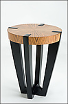 Wood Side Table by Enrico Konig