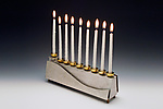 Metal Menorah by Joy Stember
