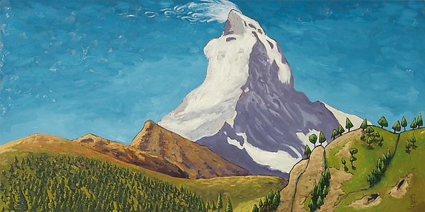 Swiss Alps No. 3 - Oil Painting - by Todd Starks