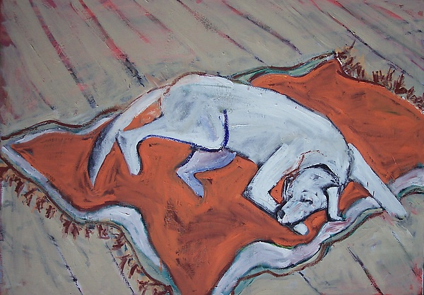 Young Dog - Oil Painting - by Elisa Root