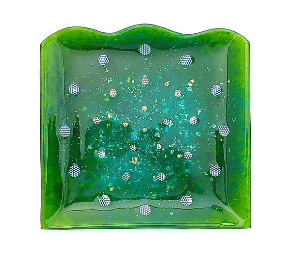 Panta Rei - Art Glass Platter - by Sabine Snykers