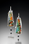 Silver & Polymer Clay Earrings by Sue Savage
