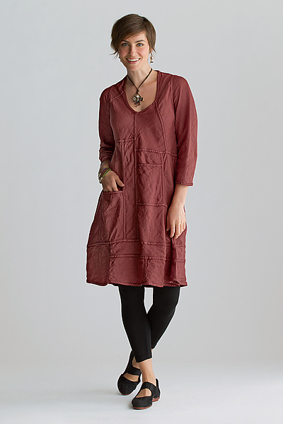 Gwen Linen Dress - Linen Dress - by Cynthia Ashby
