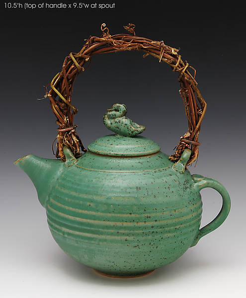 Duck Teapot 43 - Ceramic Teapot - by Ron Mello