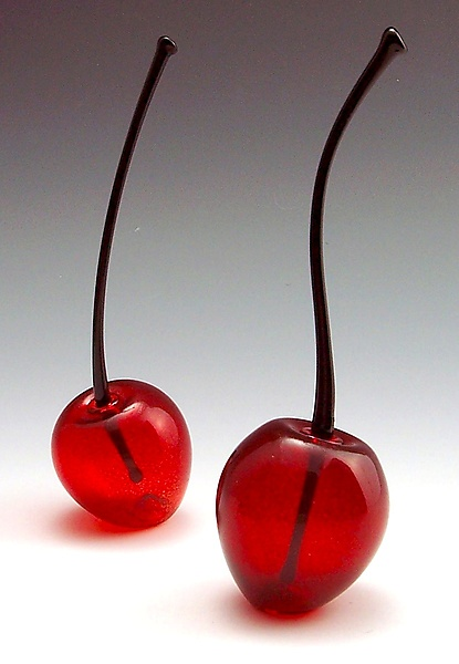 Cherry Perfume Bottles - Art Glass Perfume Bottles - by Garrett Keisling