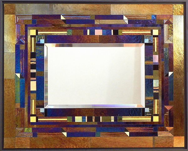Arris - Art Glass Mirror - by Thomas Meyers
