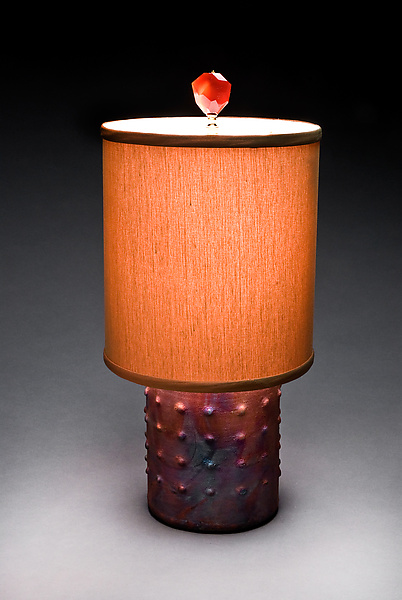 Galileo Lamp - Ceramic Table Lamp - by Mary Obodzinski