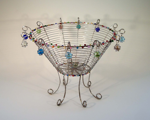 Lost My Marbles Basket in Stainless Steel - Metal Basket - by Sally Prangley
