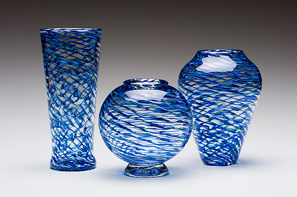 Ripple Vases - Art Glass Vase - by Kenny Pieper