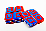 Art Glass Coasters by Helen  Rudy