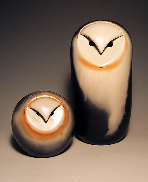 Owls - Ceramic Sculpture - by Chris Stiles