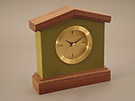 Wood & Leather Clock by Tim Wells