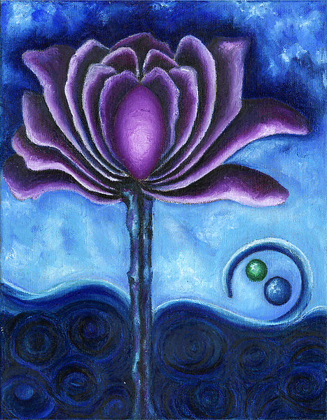 Purple Flower - Giclee Print - by Rachel Tribble