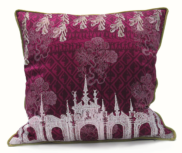 Sea Lace in Venice - Silk Pillow - by Laura Goldstein