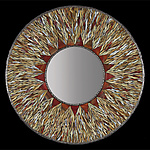 Art Glass Mirror by Michael Solomon