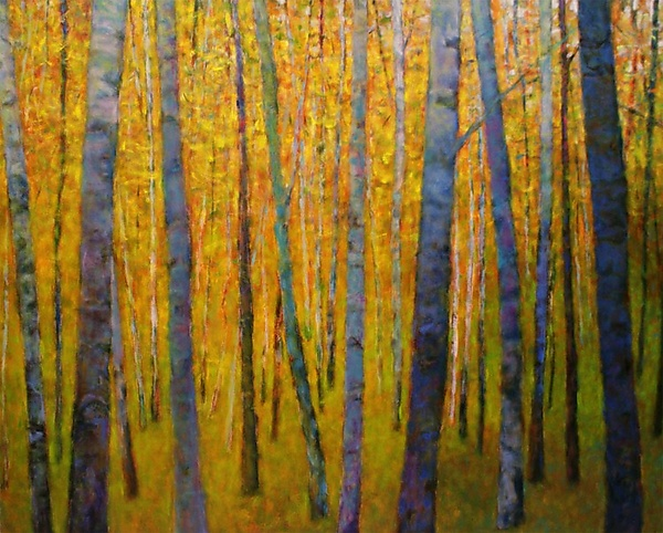 Forest Verticals - Giclee Print - by Ken Elliott