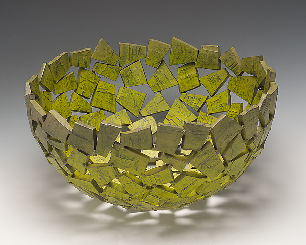 Green Monster Wabi Sabi Vessel - Metal Bowl - by Susan Madacsi